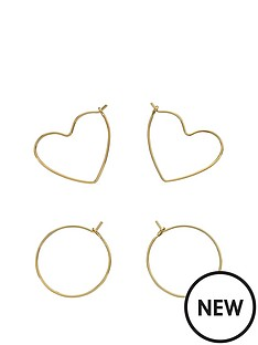 fiorelli-jewellery-fiorelli-gold-plated-pack-of-2-hoop-earrings