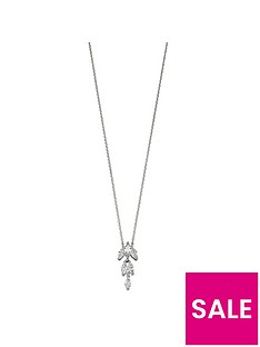 the-love-silver-collection-sterling-silver-cubic-zirconia-marquise-drop-pendant-necklace