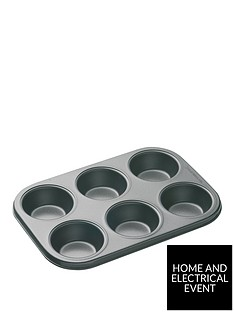masterclass-6-hole-non-stick-muffin-and-cupcake-tray