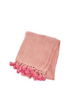 sass-belle-nevada-pink-blanket-throw