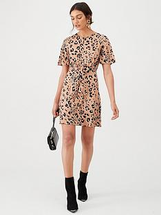 v-by-very-animal-knot-waist-jersey-mini-dress-multi