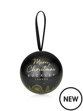 Buckley London Silver Set Of Three Stud Earrings In Christmas Bauble Gift by Buckley London