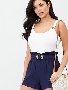 v-by-very-belted-linen-mix-beach-short-navy