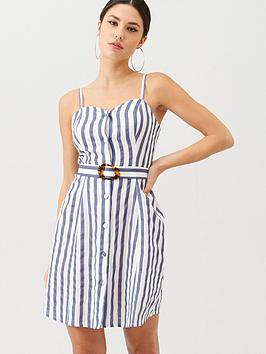v-by-very-stripe-belted-linen-beach-dress-stripe