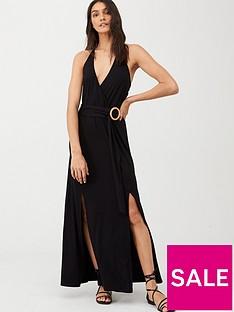 v-by-very-halter-neck-horn-ring-maxi-beach-dress-black