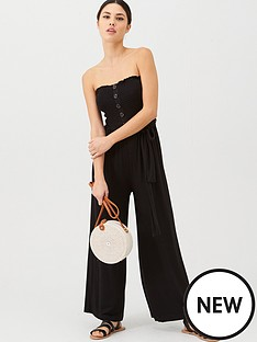 v-by-very-jersey-shirred-crop-jumpsuit-black