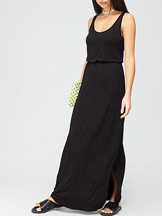 v-by-very-channel-waist-jersey-maxi-dress-black