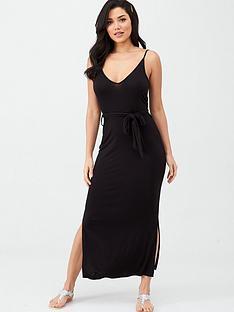 v-by-very-strappy-belted-midi-dress-black