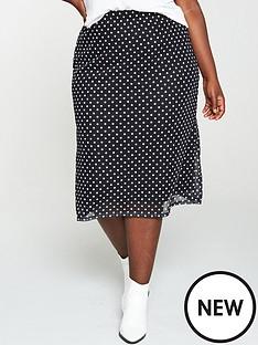 v-by-very-curve-mesh-midi-skirt-spot-print