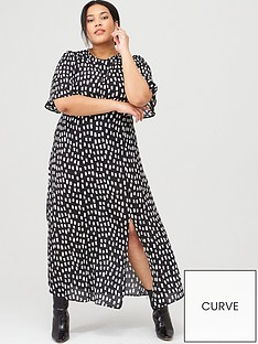 v-by-very-curve-mono-print-midi-dress-square-spot