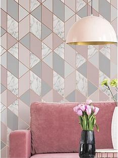 sublime-marble-blush-geo-wallpaper