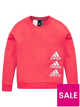 adidas-girls-crew-sweatshirt-pink