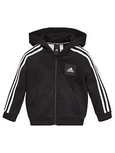 adidas-boys-3-stripe-full-zip-hoodie-black