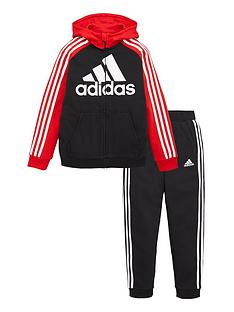 adidas-boys-french-terry-tracksuit-red