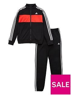 adidas-girlsnbsp3-stripe-full-zipnbspjogger-setnbsp--black