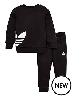 adidas-originals-childrens-big-trefoil-crew-tracksuitnbsp-black