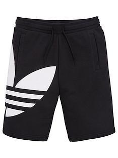 adidas-originals-youth-trefoil-shorts-black