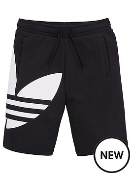 adidas-originals-youth-trefoil-shorts-black