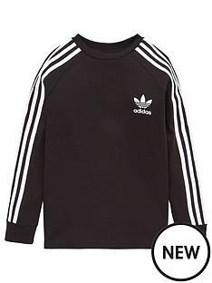 adidas-originals-childrens-three-stripes-long-sleeve-sweat-top-black