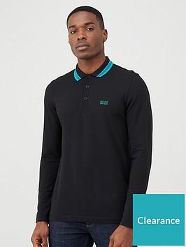 boss-plisy-long-sleeved-polo-shirt-black