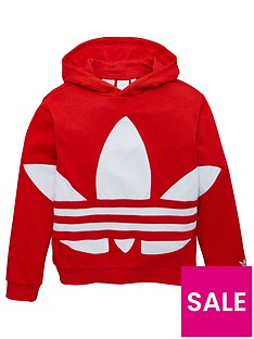 adidas-originals-youth-trefoil-hoodie-red