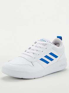 adidas-tensaur-junior-trainers-whiteblue