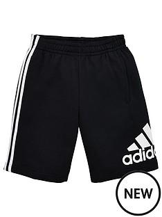 adidas-boys-badge-of-sport-shorts-black