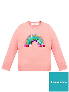 v-by-very-girls-knitted-rainbow-sequin-jumper-light-pink