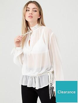 v-by-very-cream-tie-neck-poets-blouse-ivory