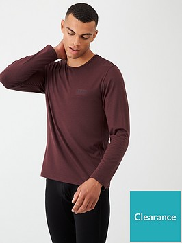 boss-thermo-long-sleeved-lounge-top-burgundy
