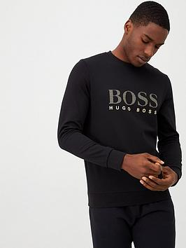boss-logo-sweatshirt-black