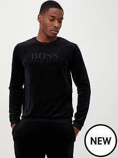 boss-velour-logo-lounge-top-black