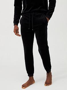 boss-velour-logo-lounge-pant-black