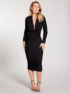 kate-wright-premium-stretch-bandage-midi-dress-black