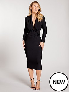 kate-wright-premium-stretch-bandage-midi-dress-black