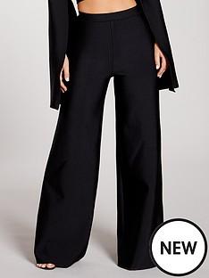 kate-wright-premium-stretch-bandage-wide-leg-trousers-black