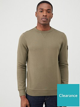 boss-walkup-crew-neck-sweatshirt-khaki
