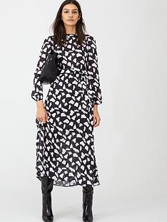 v-by-very-monochrome-sheen-midi-dress-print