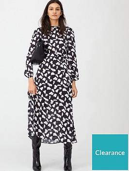 v-by-very-monochrome-sheen-midi-dress-print