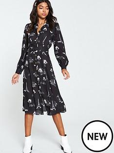 v-by-very-paris-mono-shirt-dress-print