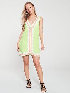 river-island-trim-front-beach-dress-lime