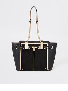 river-island-river-island-padlock-winged-tote-bag-black