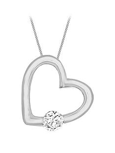 the-love-silver-collection-sterling-silver-cubic-zirconia-heart-pendant-necklace