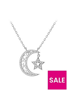 the-love-silver-collection-sterling-silver-cubic-zirconia-moon-and-star-pendant-necklace