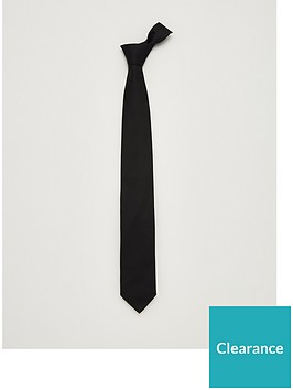 hugo-silk-tie-black