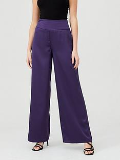 michelle-keegan-satin-wide-leg-trousers-purple