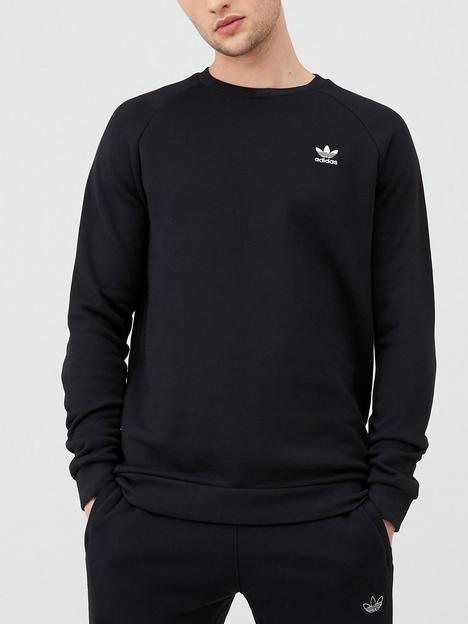 adidas-originals-essential-crew-neck-sweat-black