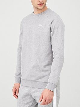 adidas-originals-essential-crew-neck-sweatshirt-medium-grey-heathernbsp