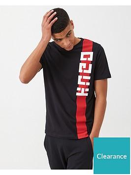 hugo-dech-vertical-logo-t-shirt-black