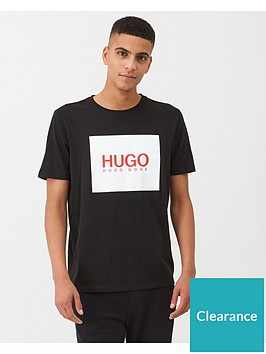 hugo-dolive201-square-logo-t-shirt-black